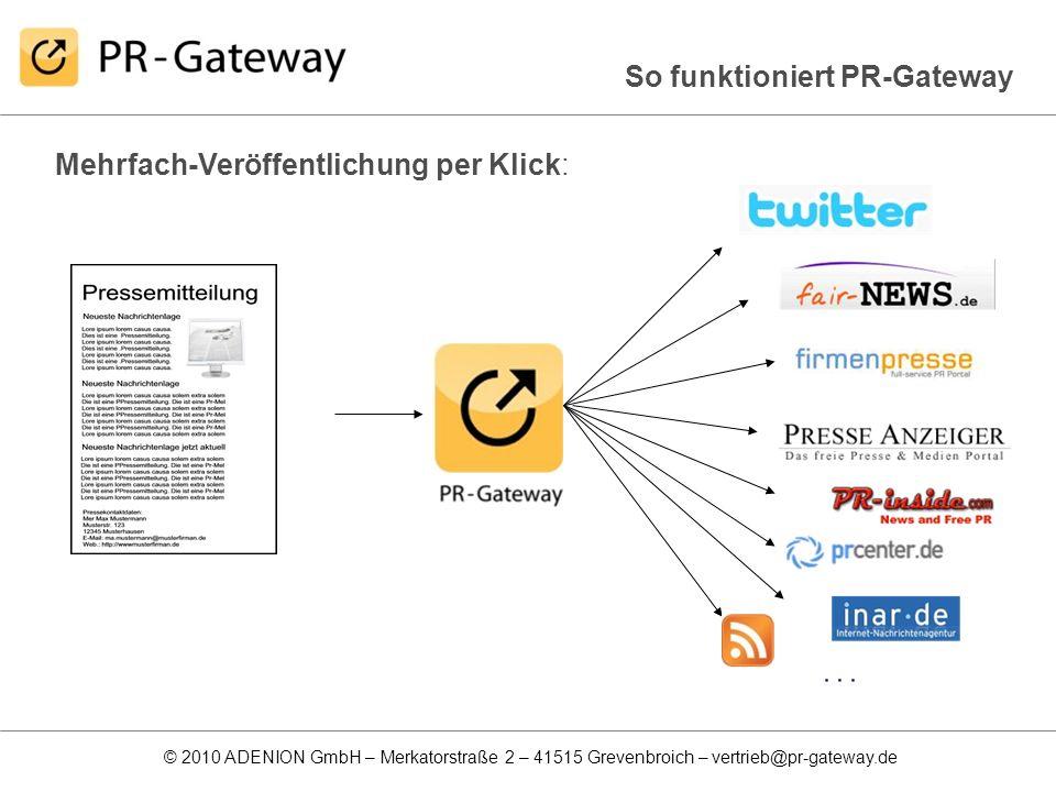 So funktioniert PR-Gateway