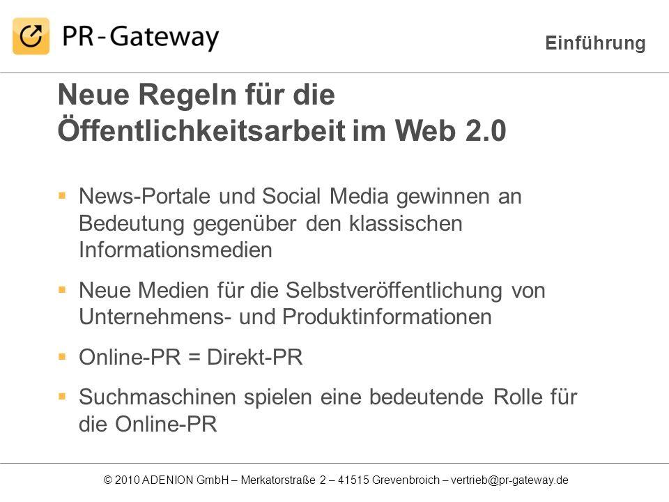 Neue Regeln für die Öffentlichkeitsarbeit im Web 2.0