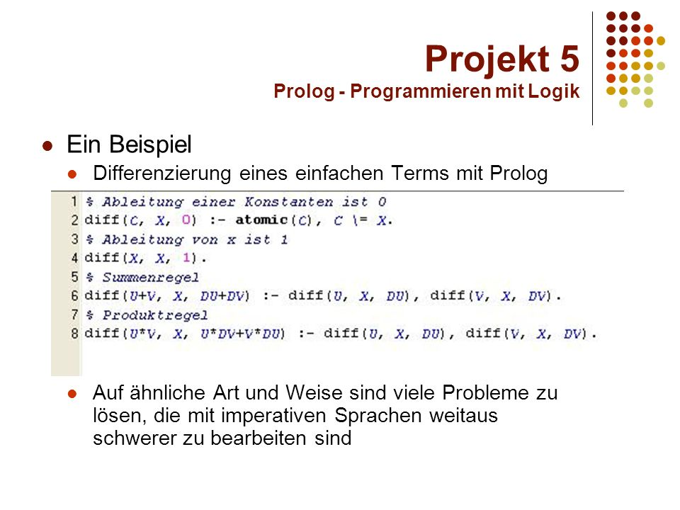 Projekt 5 Prolog - Programmieren mit Logik