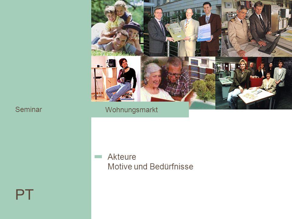 Wohnungsmarkt Seminar Akteure Motive und Bedürfnisse PT