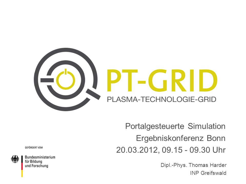Portalgesteuerte Simulation Ergebniskonferenz Bonn