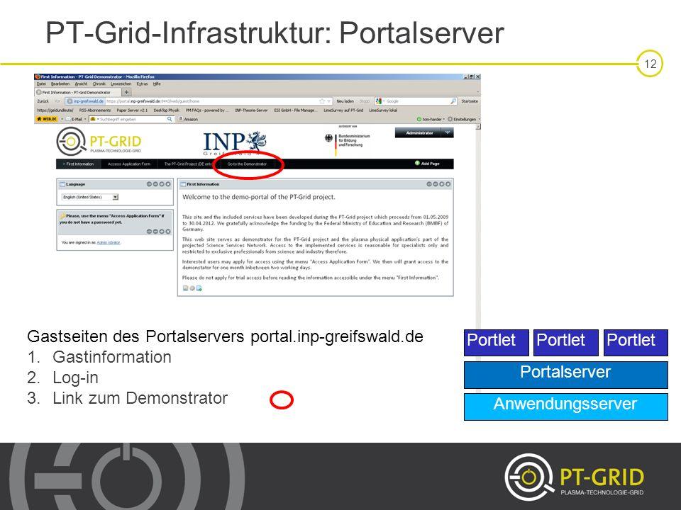 PT-Grid-Infrastruktur: Portalserver