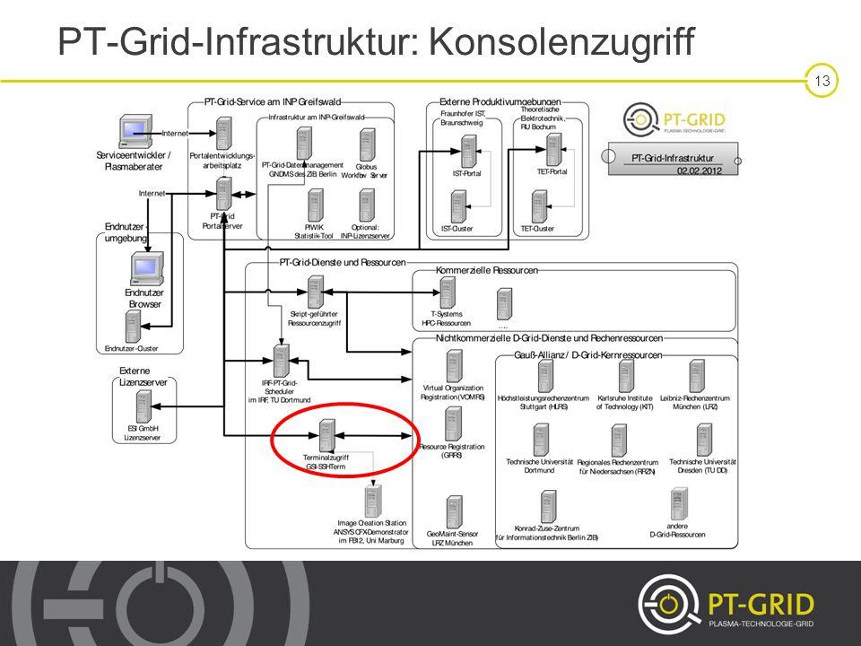 PT-Grid-Infrastruktur: Konsolenzugriff