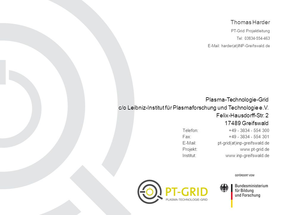 Plasma-Technologie-Grid