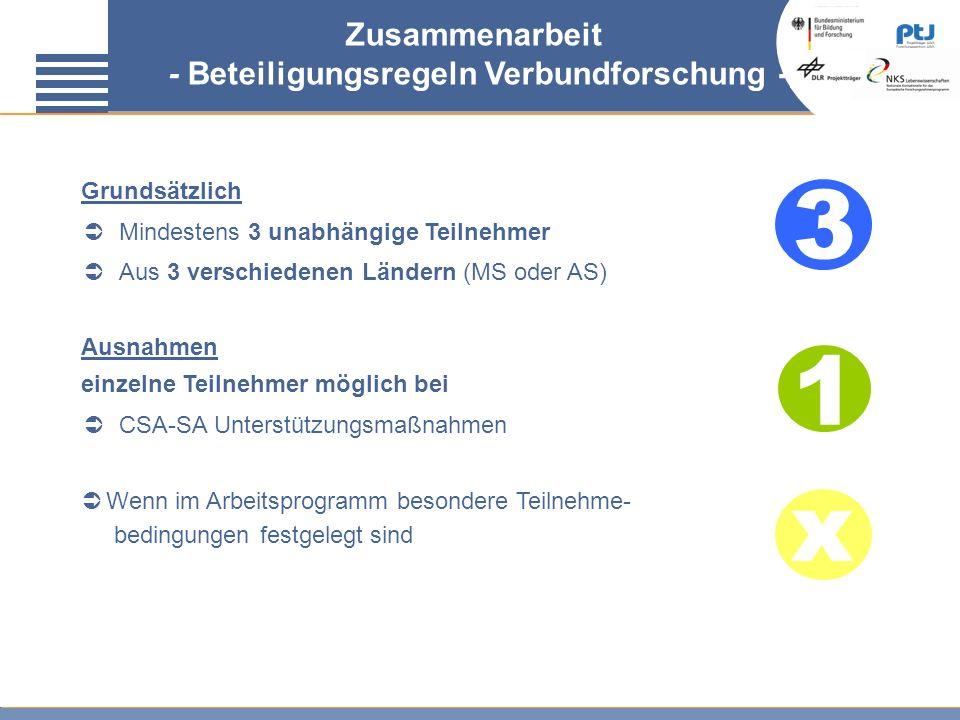 - Beteiligungsregeln Verbundforschung -