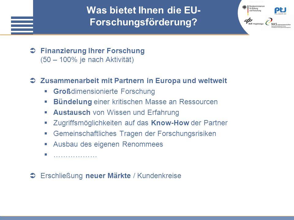 Was bietet Ihnen die EU-Forschungsförderung