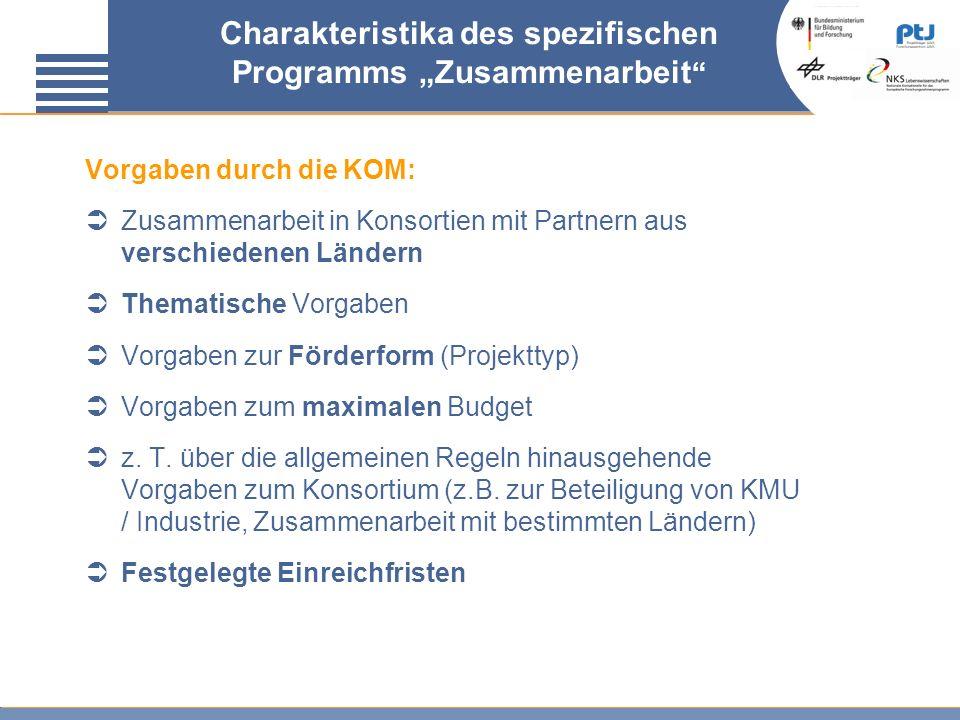 """Charakteristika des spezifischen Programms """"Zusammenarbeit"""
