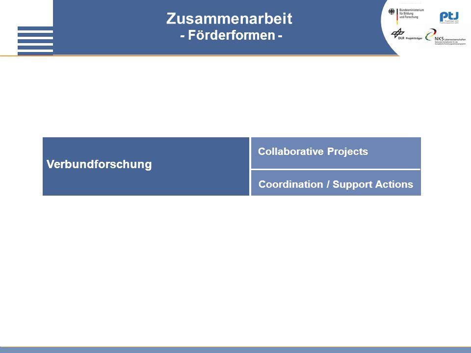 Zusammenarbeit - Förderformen - Verbundforschung