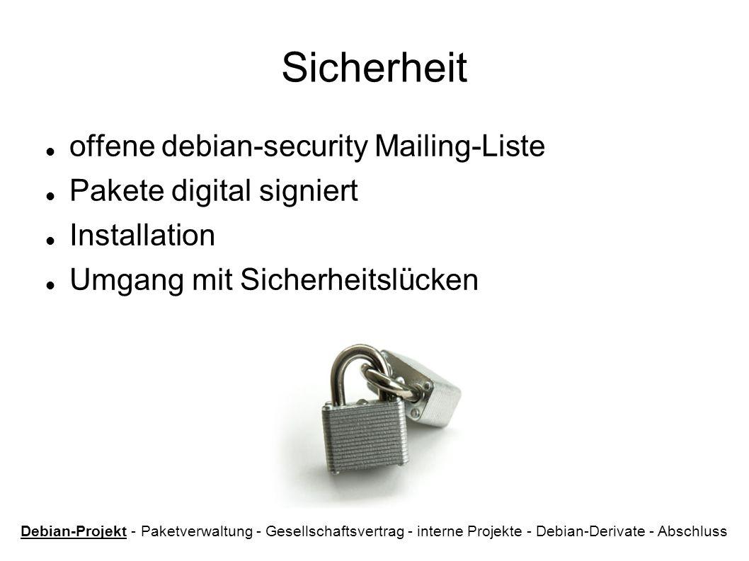Sicherheit offene debian-security Mailing-Liste