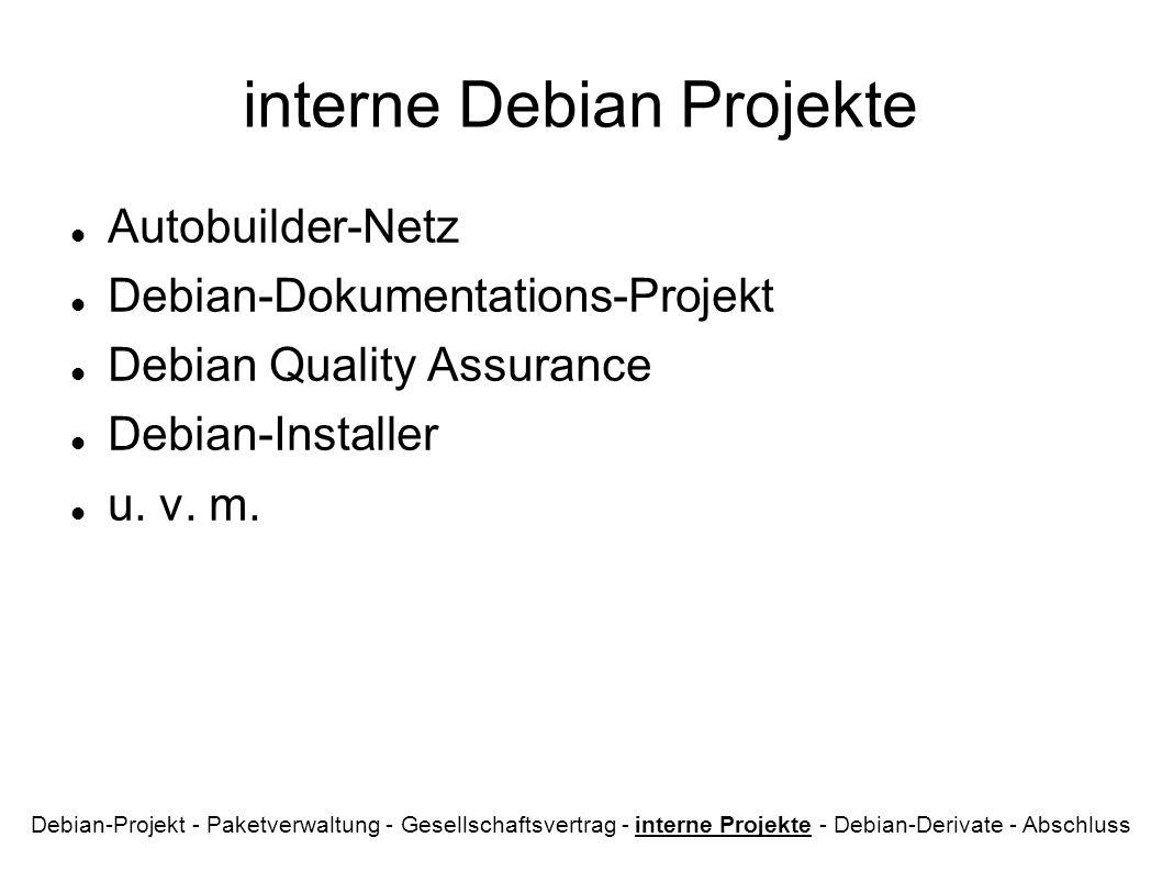 interne Debian Projekte