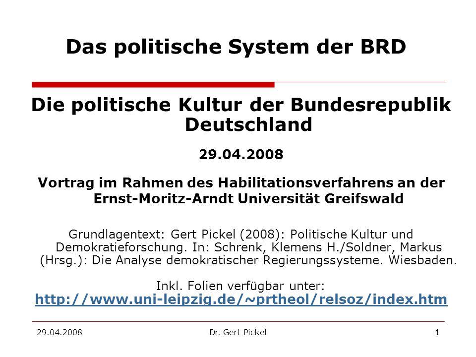 Das politische System der BRD