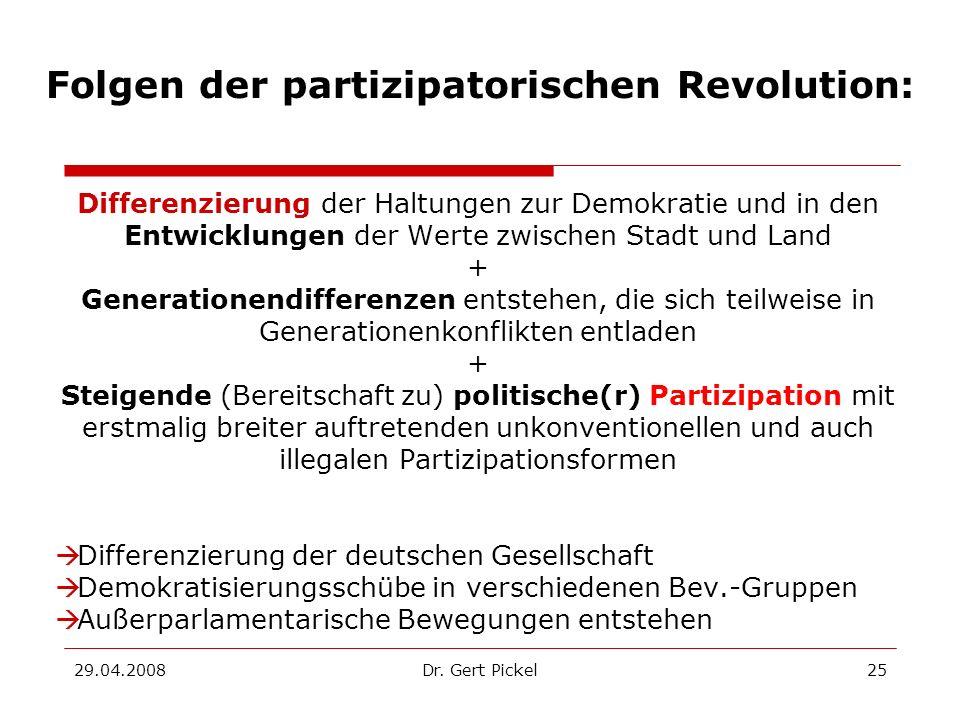 Folgen der partizipatorischen Revolution: