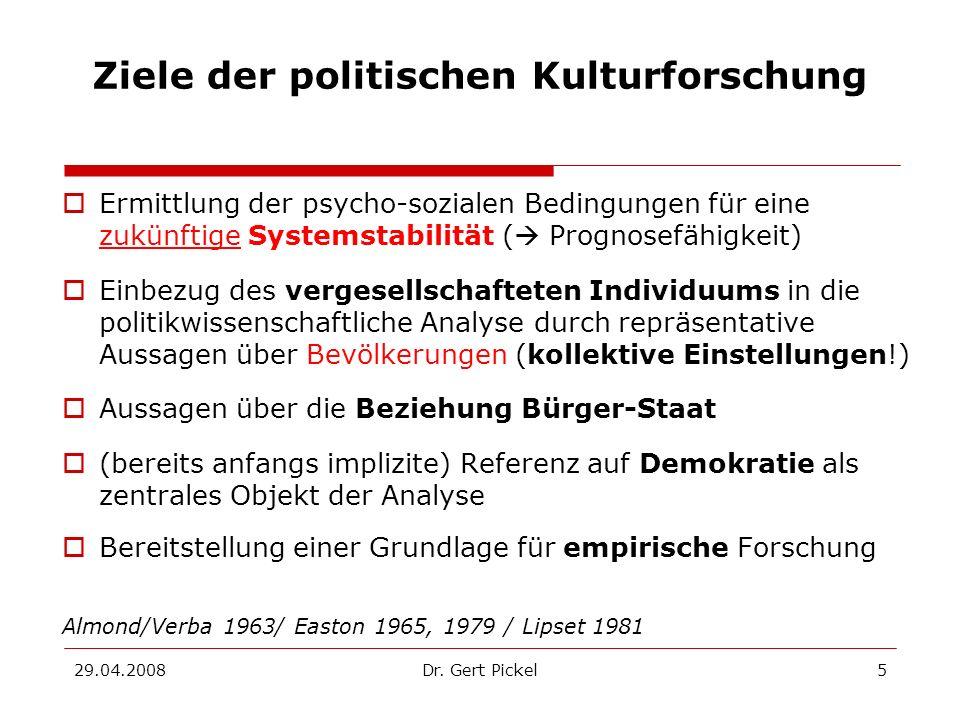 Ziele der politischen Kulturforschung