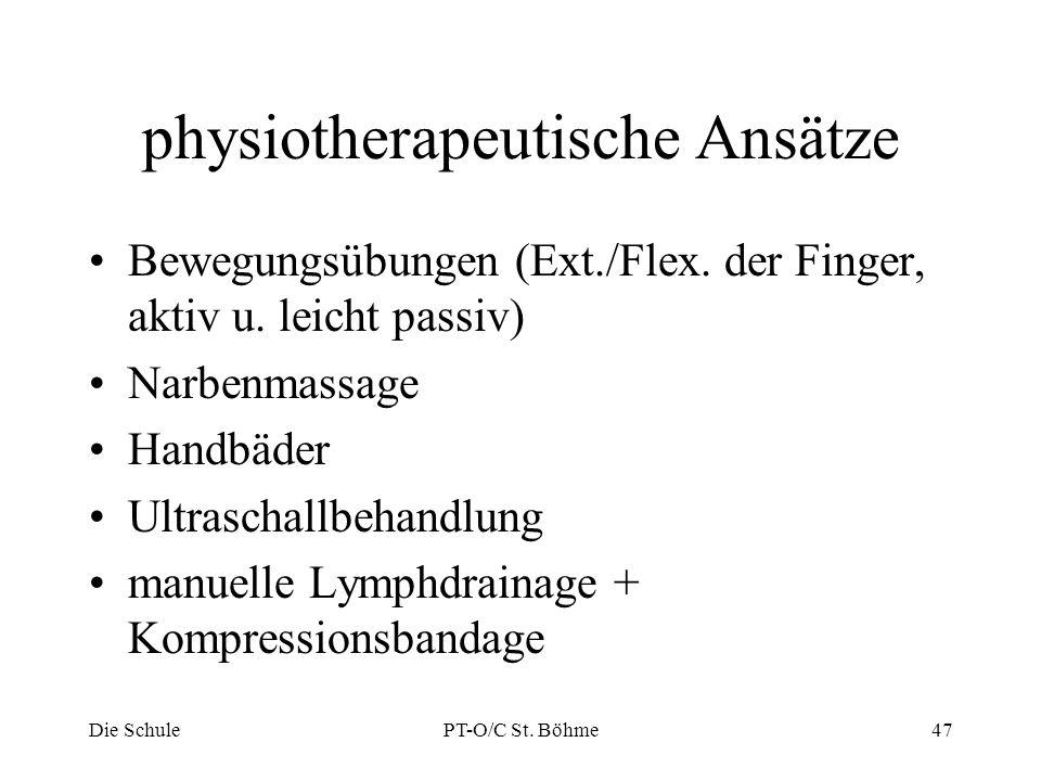 physiotherapeutische Ansätze