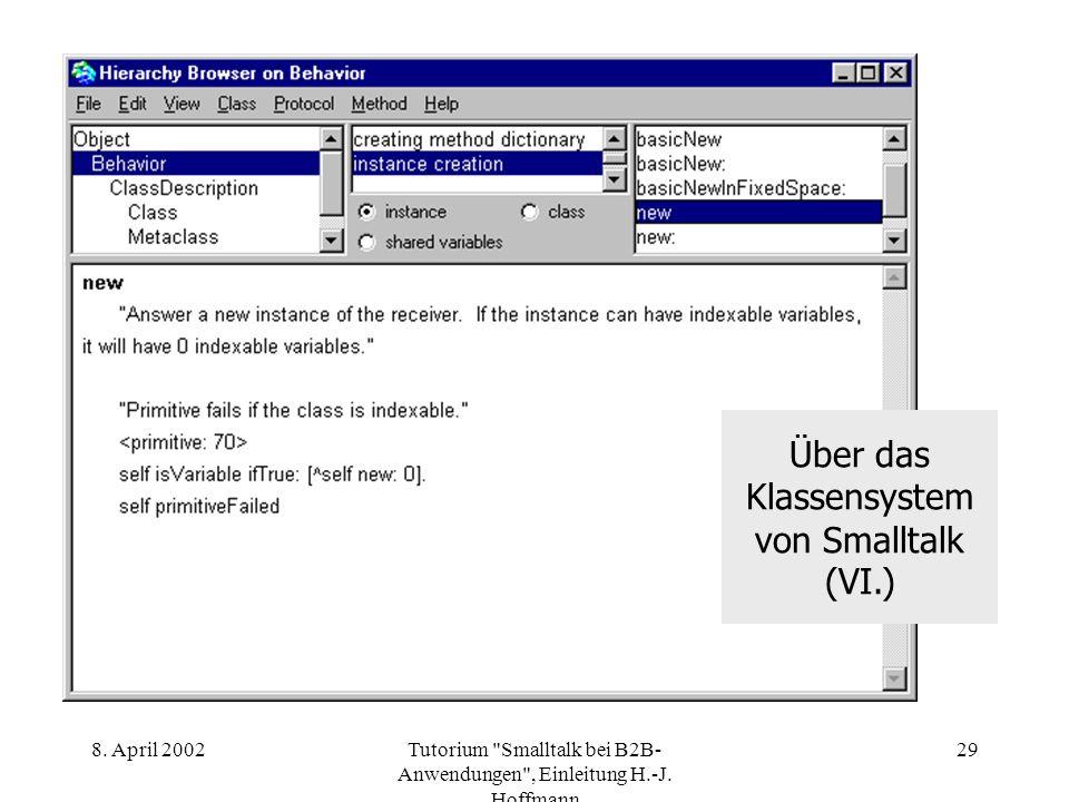 Über das Klassensystem von Smalltalk (VI.)