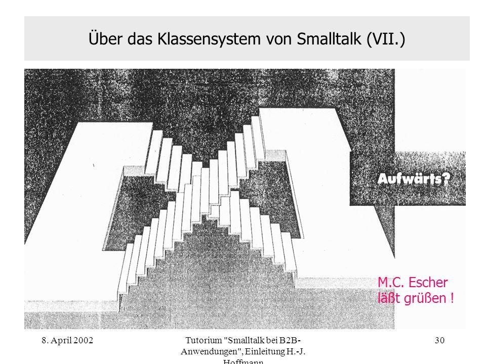 Über das Klassensystem von Smalltalk (VII.)