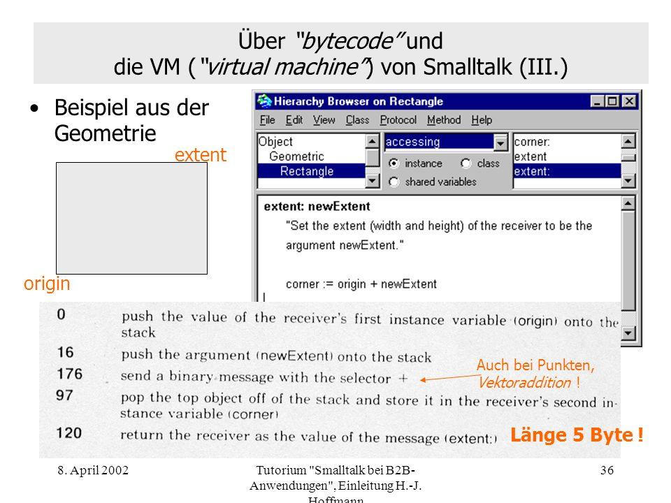 Über bytecode und die VM ( virtual machine ) von Smalltalk (III.)