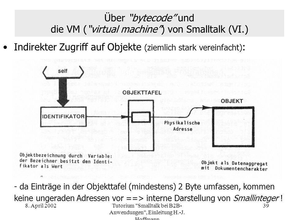 Über bytecode und die VM ( virtual machine ) von Smalltalk (VI.)