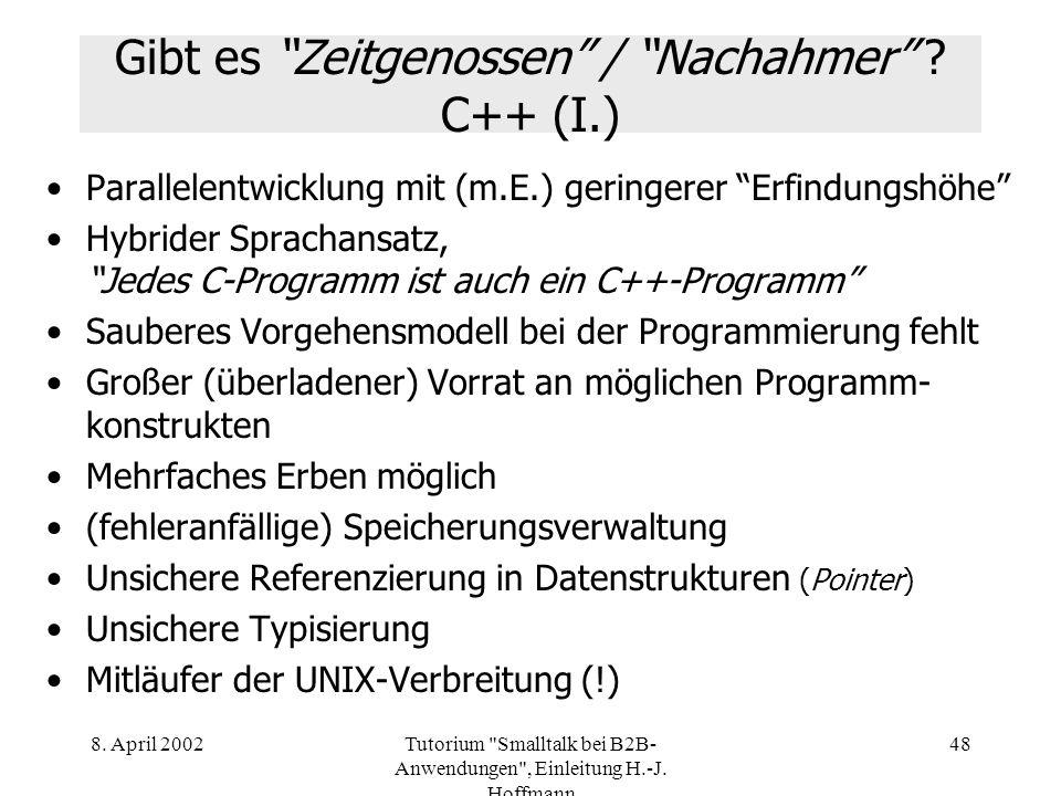 Gibt es Zeitgenossen / Nachahmer C++ (I.)