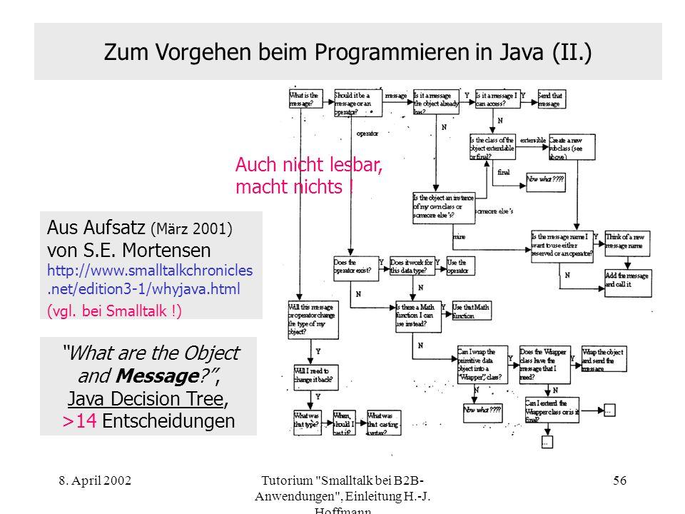 Zum Vorgehen beim Programmieren in Java (II.)