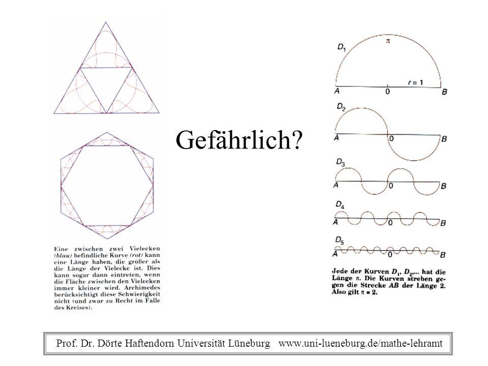Gefährlich Prof. Dr. Dörte Haftendorn Universität Lüneburg www.uni-lueneburg.de/mathe-lehramt