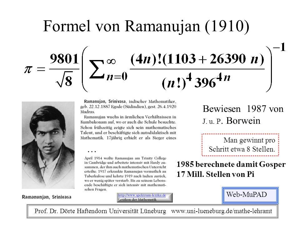 Formel von Ramanujan (1910)