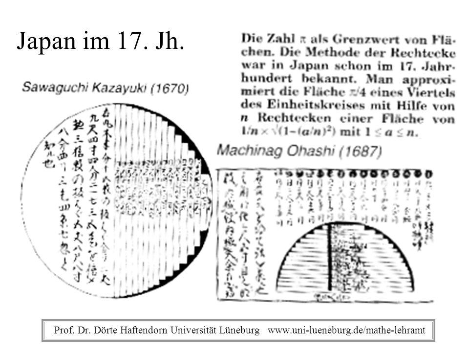 Japan im 17. Jh. Prof. Dr.