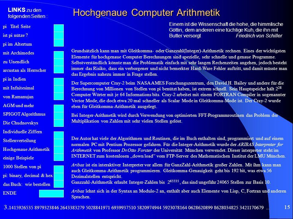 Hochgenaue Computer Arithmetik