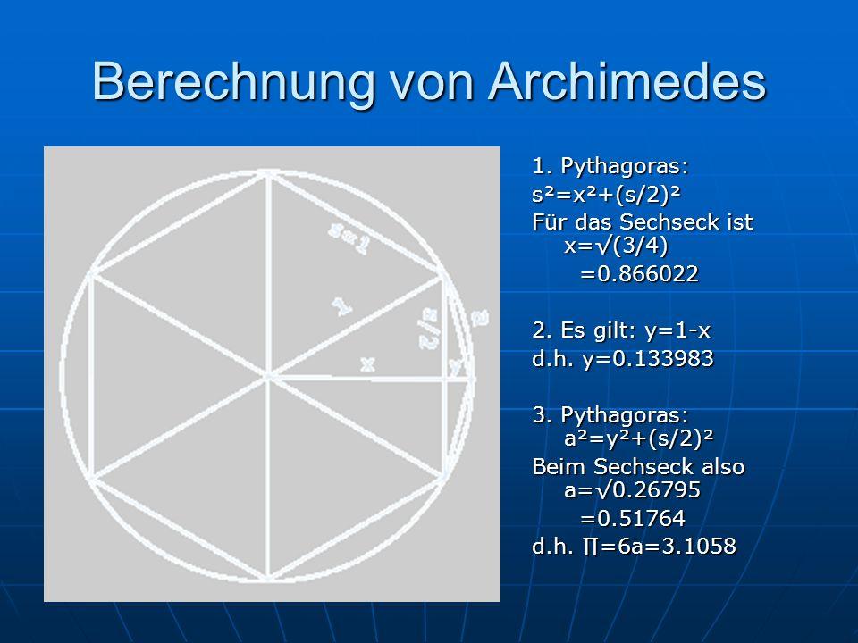 Berechnung von Archimedes