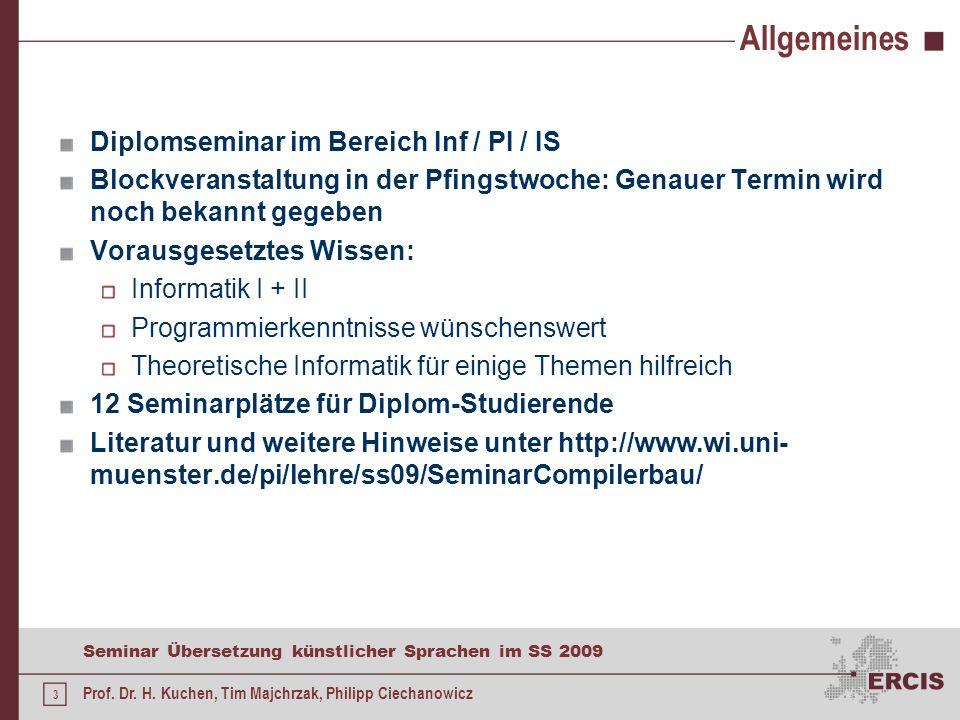 Allgemeines Diplomseminar im Bereich Inf / PI / IS