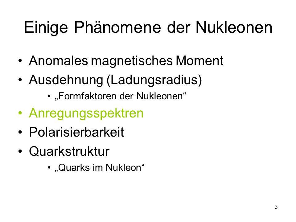 Einige Phänomene der Nukleonen