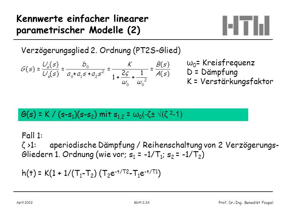 Kennwerte einfacher linearer parametrischer Modelle (2)