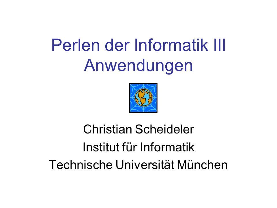 Perlen der Informatik III Anwendungen