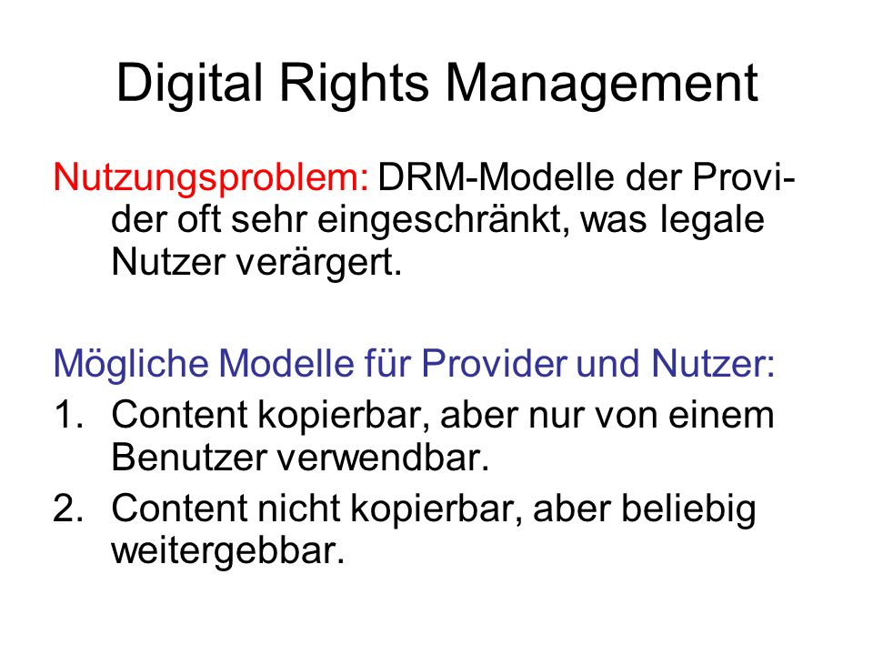 Digital Rights Management