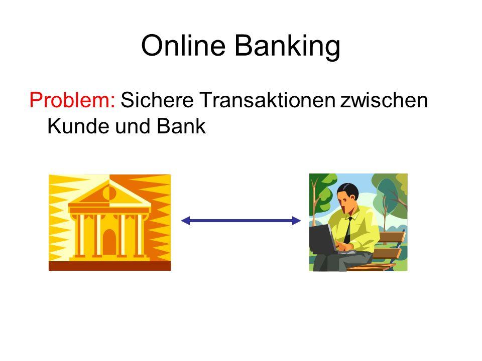 Online Banking Problem: Sichere Transaktionen zwischen Kunde und Bank