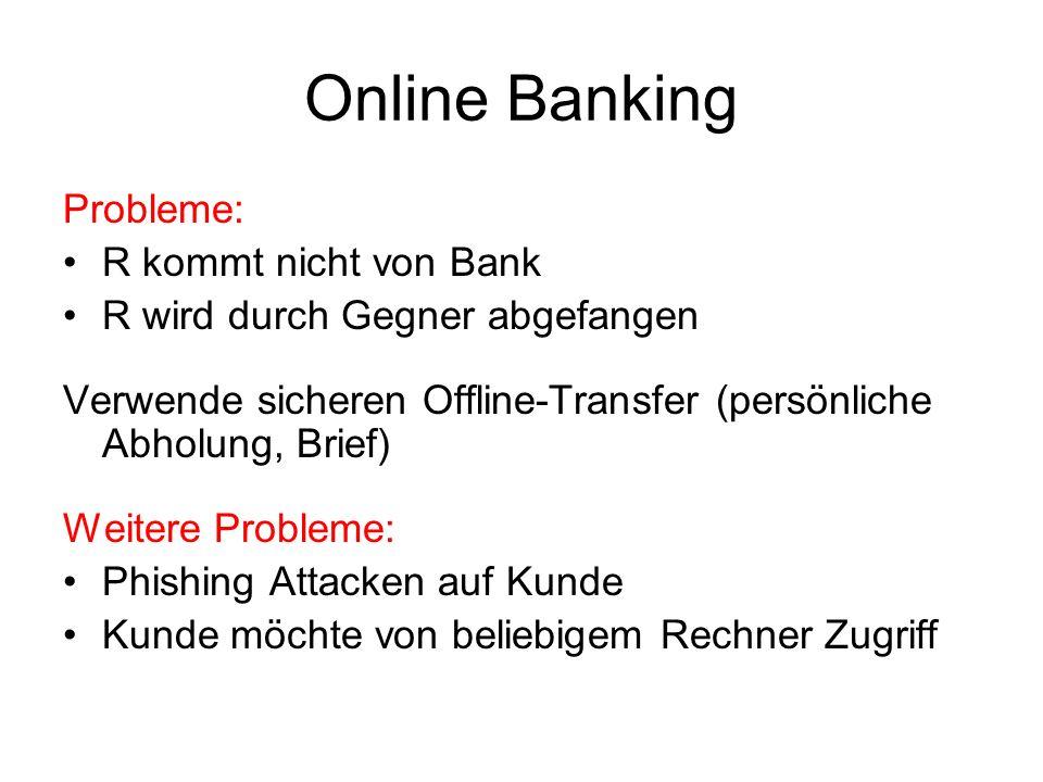 Online Banking Probleme: R kommt nicht von Bank