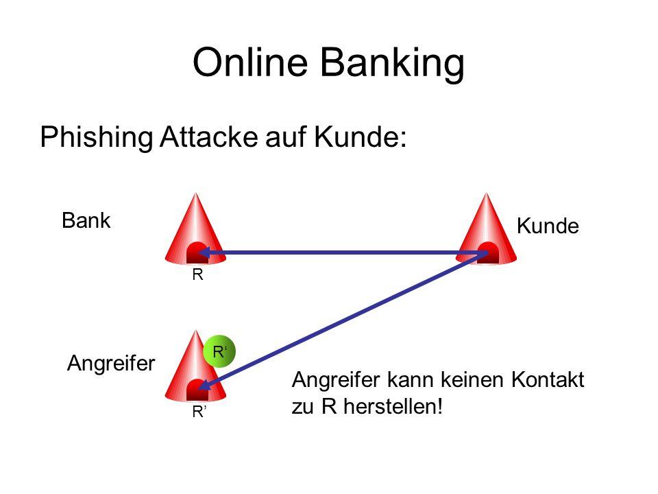 Online Banking Phishing Attacke auf Kunde: Bank Kunde Angreifer
