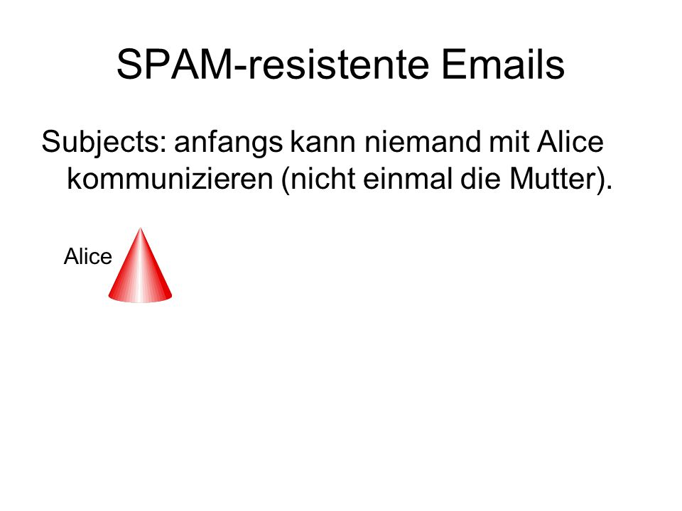 SPAM-resistente Emails