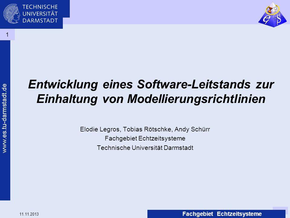 Entwicklung eines Software-Leitstands zur Einhaltung von Modellierungsrichtlinien