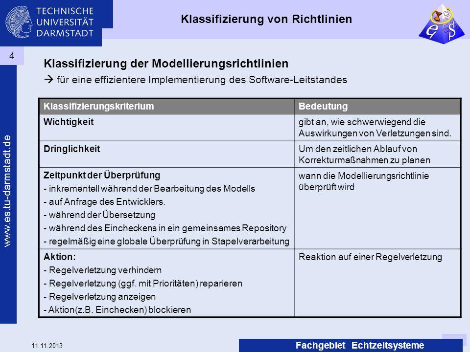 Klassifizierung von Richtlinien