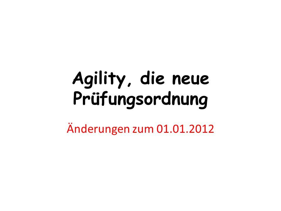 Agility, die neue Prüfungsordnung