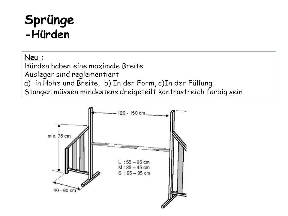 Sprünge -Hürden Neu : Hürden haben eine maximale Breite