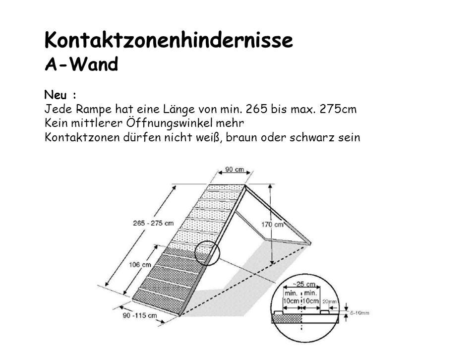 Kontaktzonenhindernisse A-Wand