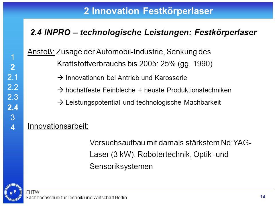 2 Innovation Festkörperlaser