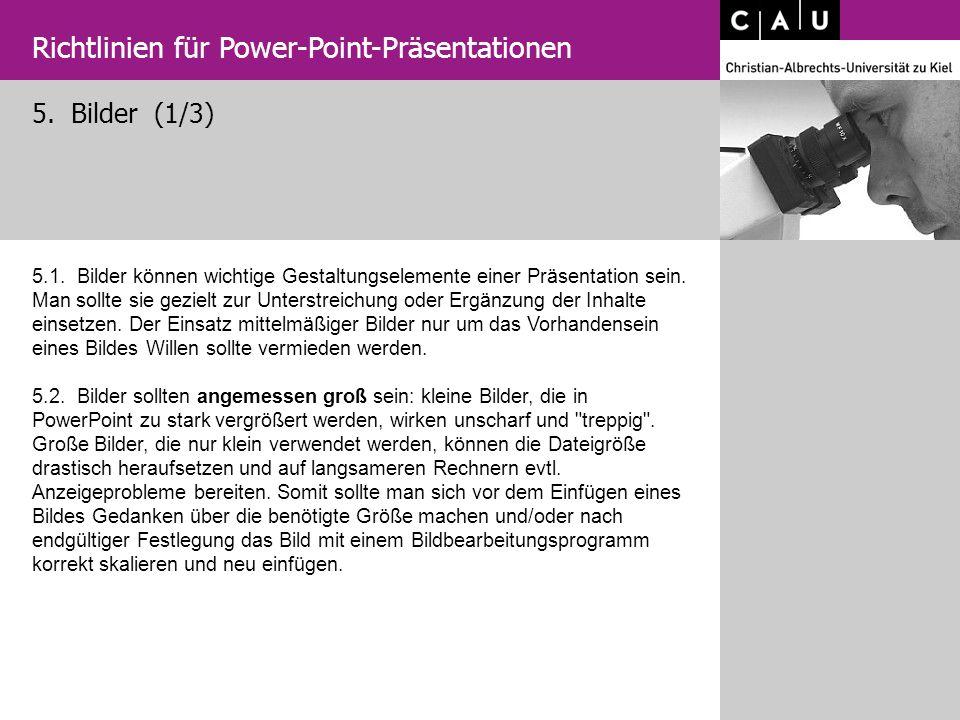 Richtlinien für Power-Point-Präsentationen