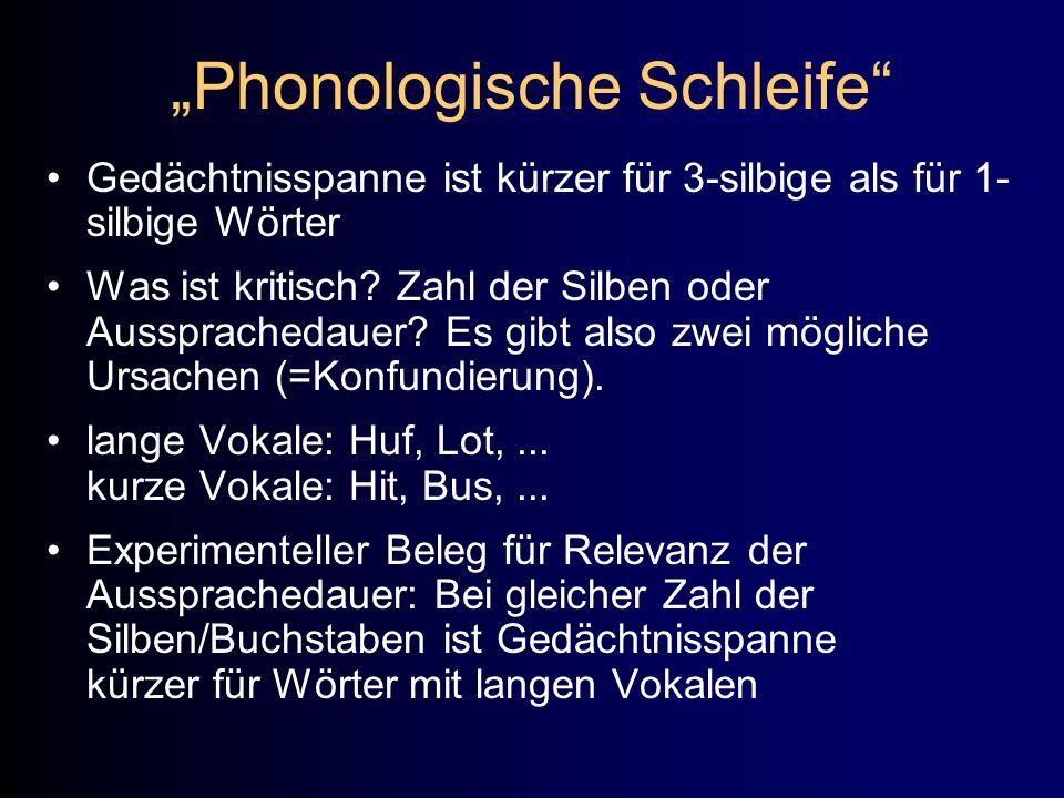 """""""Phonologische Schleife"""