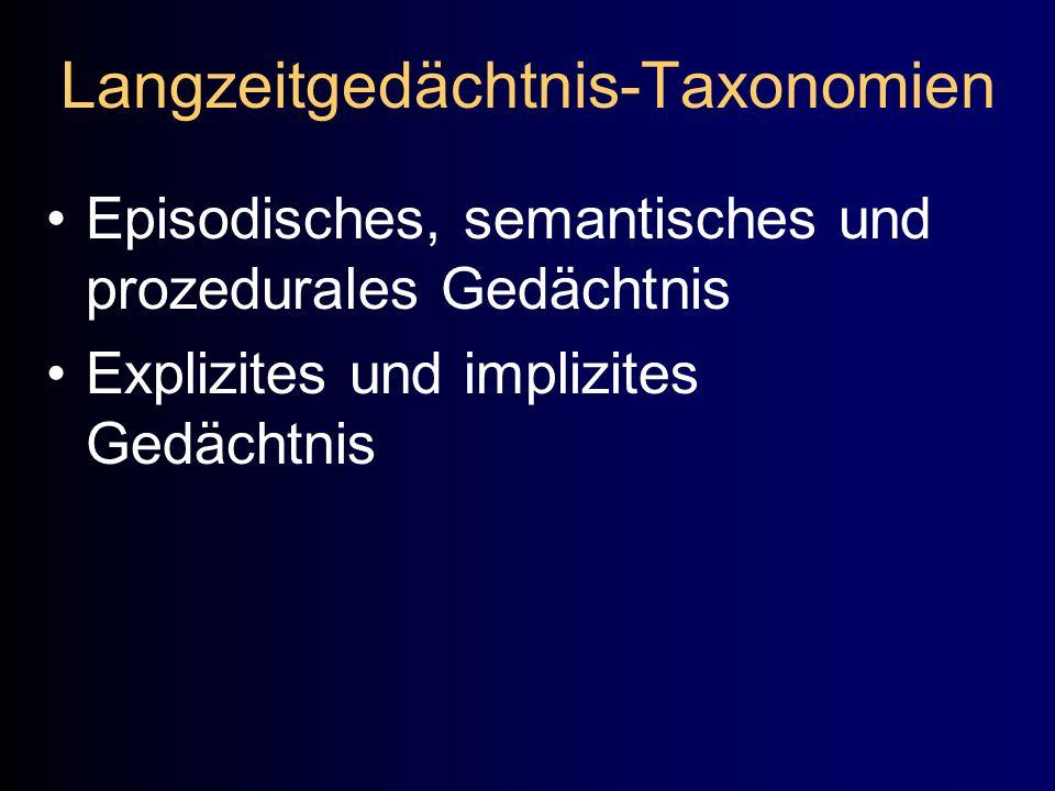 Langzeitgedächtnis-Taxonomien