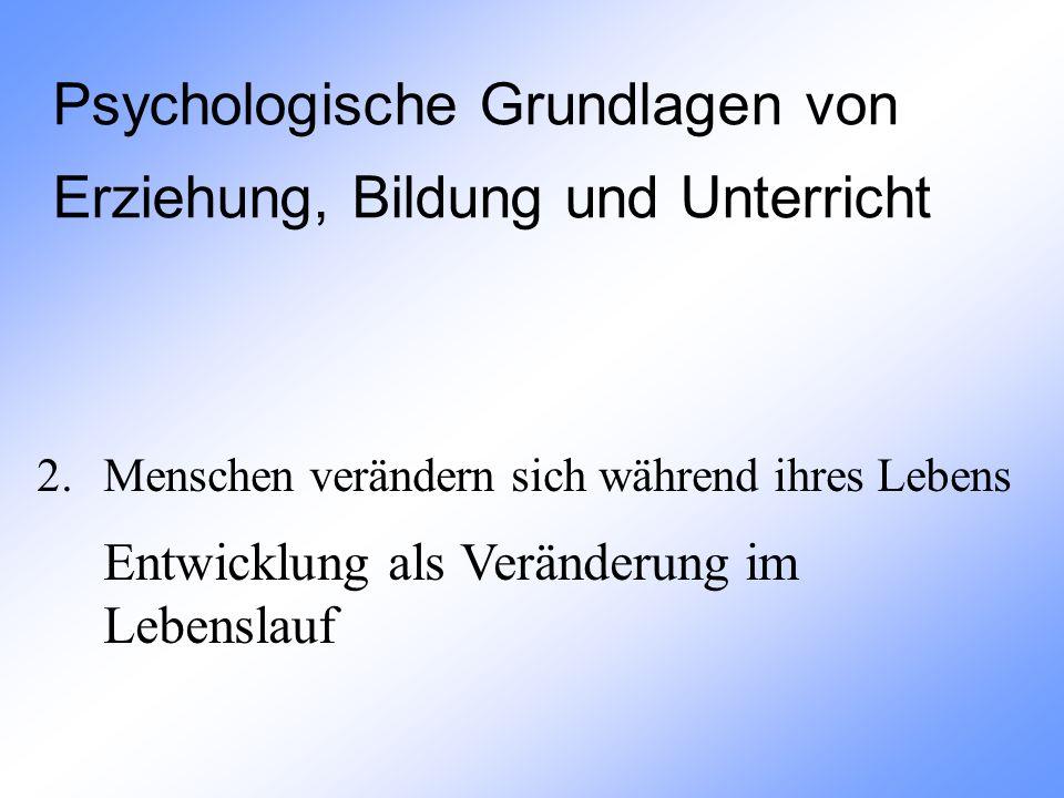 Psychologische Grundlagen von Erziehung, Bildung und Unterricht