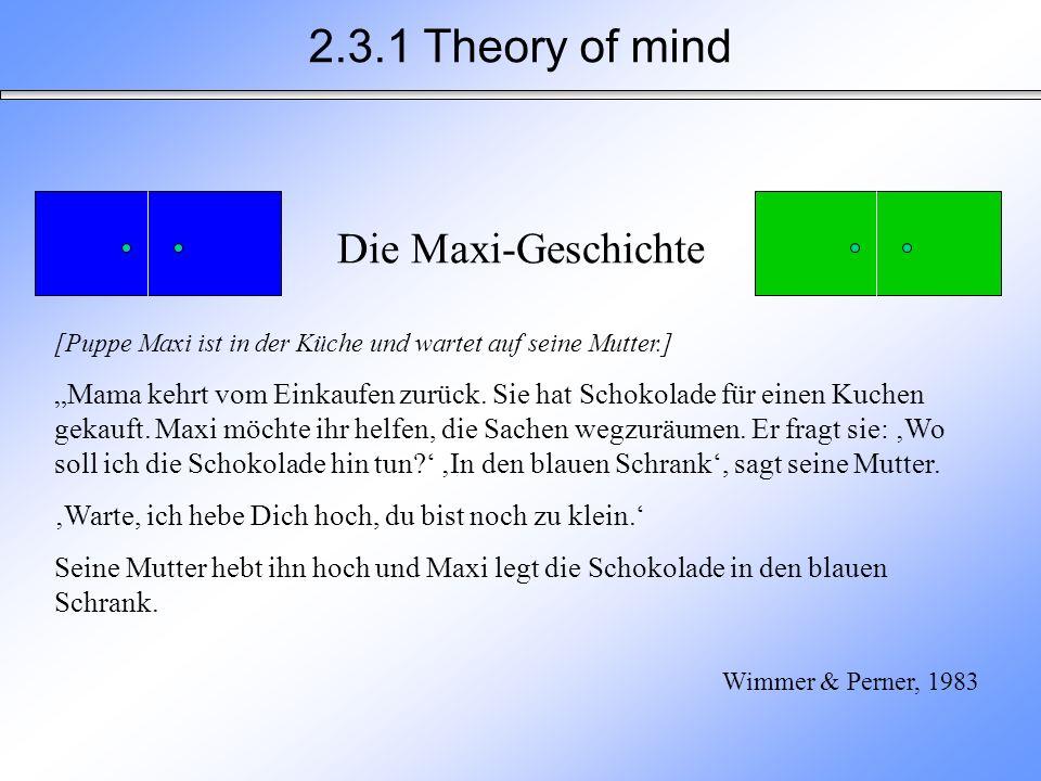 2.3.1 Theory of mind Die Maxi-Geschichte