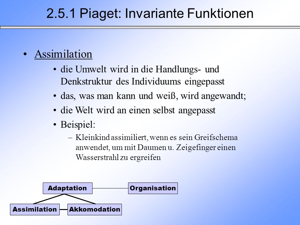 2.5.1 Piaget: Invariante Funktionen